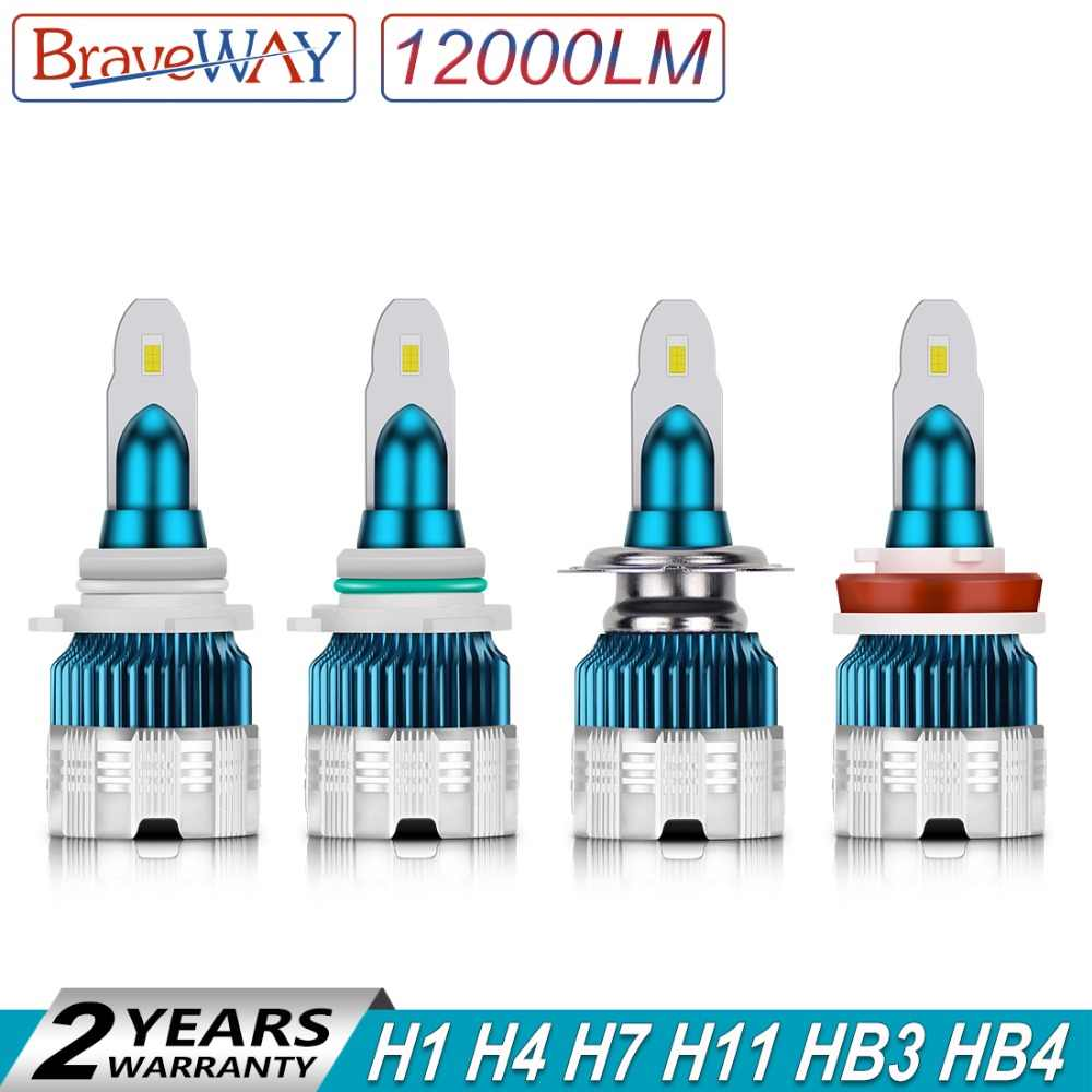 BraveWay 2019 New Arrival Mini Size 100W 12000LM Car Headlight H7 LED Bulbs H1 H4 H8 H9 9005 9006 HB4 HB3 LED H11 Ice Lamp Auto