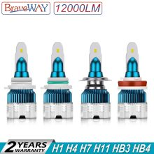BraveWay 2019 New Arrival Mini Size 100W 12000LM Car Headlight H7 LED Bulbs H1 H4 H8 H9 9005 9006 HB4 HB3 LED H11 Ice Lamp Auto(China)