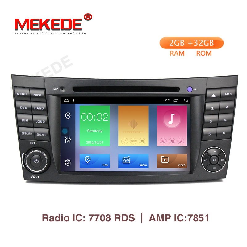 Mekede 2GB 32GB Car Multimedia Player Android 9 1 DVD Player For Mercedes Benz E Class