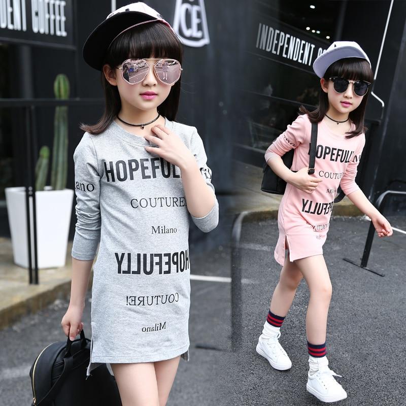 Buy Letter Printed Girls T Shirts Dresses