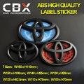 ABS 3D Etiqueta Engomada del emblema Del Coche modificado de Alta Calidad Negro para Corolla Corona Reiz Camry Prius RAV4 Alphard Iris 7 tamaños