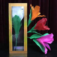 Flower Appearing From Crystal Tube/Clarity Tube Magic Tricks,Stage,Props,Gimmick,Funny,Mentalism,Illusion