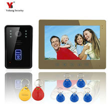 Yobang Security 10″monitor video door phone for villa Home Video intercom doorbell RFID Camera LED Night Vision Rainproof cover