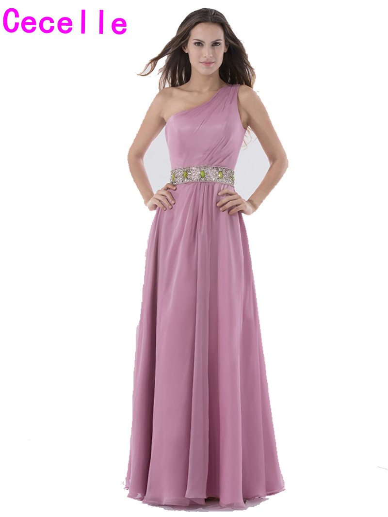 Compare prices on wedding dress bridesmaid rose online shopping 2017 dusty rose long bridesmaids dresses one shoulder beach summer formal wedding party gowns bridesmaid robes ombrellifo Choice Image