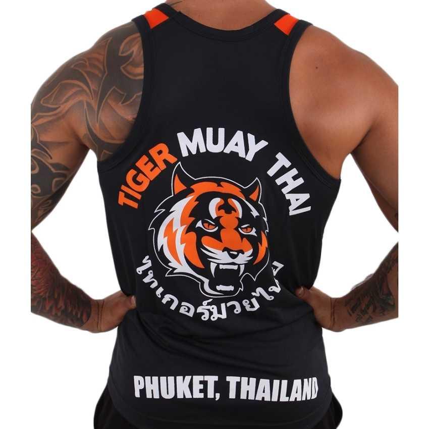 Suotf Tinju Kaus MMA Pendek Tiger Muay Thai Tinju Kaus Jersey Thai Pendek Tinju Hoodie Melawan Memakai Yokkao