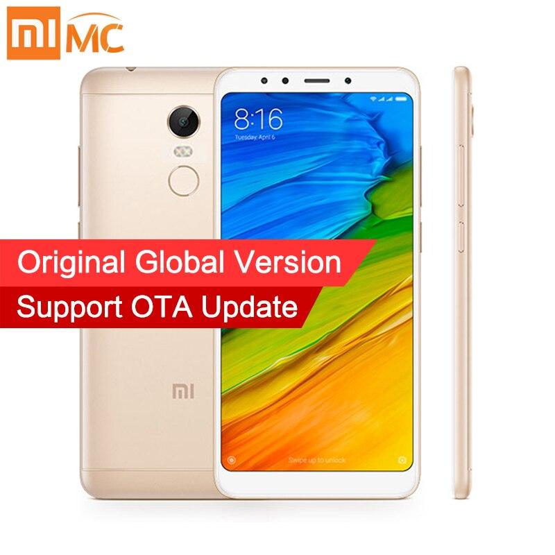 В наличии Глобальный Версия Xiaomi Redmi 5 плюс 4 ГБ 64 ГБ смартфон 5,99 полный Экран Snapdragon 625 12.0MP камера 4000 мАч MIUI 9 CE