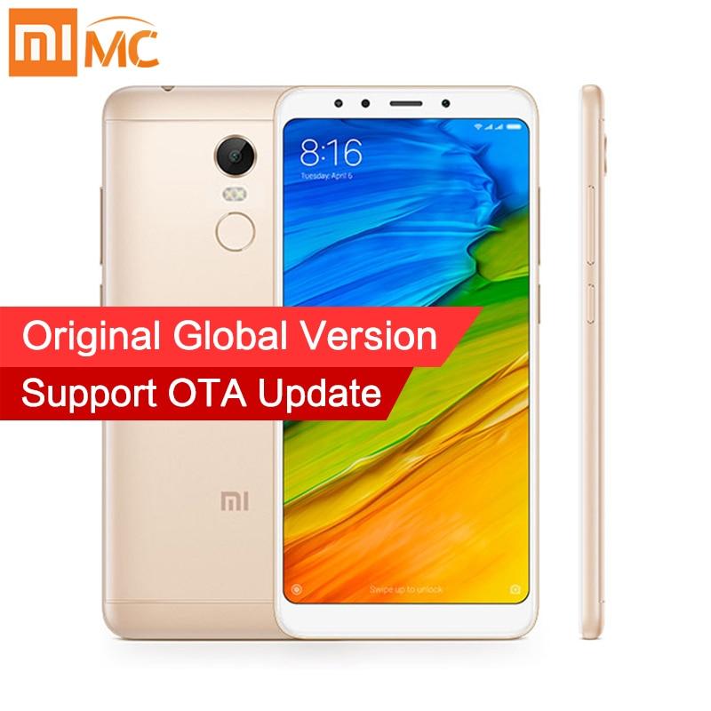 Em Estoque Global Versão Xiaomi Redmi 5 Plus 4 gb 64 gb Smartphones 5.99 Snapdragon 625 12.0MP Tela Cheia câmera 4000 mah MIUI 9 CE