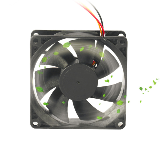 Professional 80MM Small 3pin Interface PC Computer Fan Silent DC 12V Chassis Fan CPU Cooling Fan Cooler Black Dropshipping