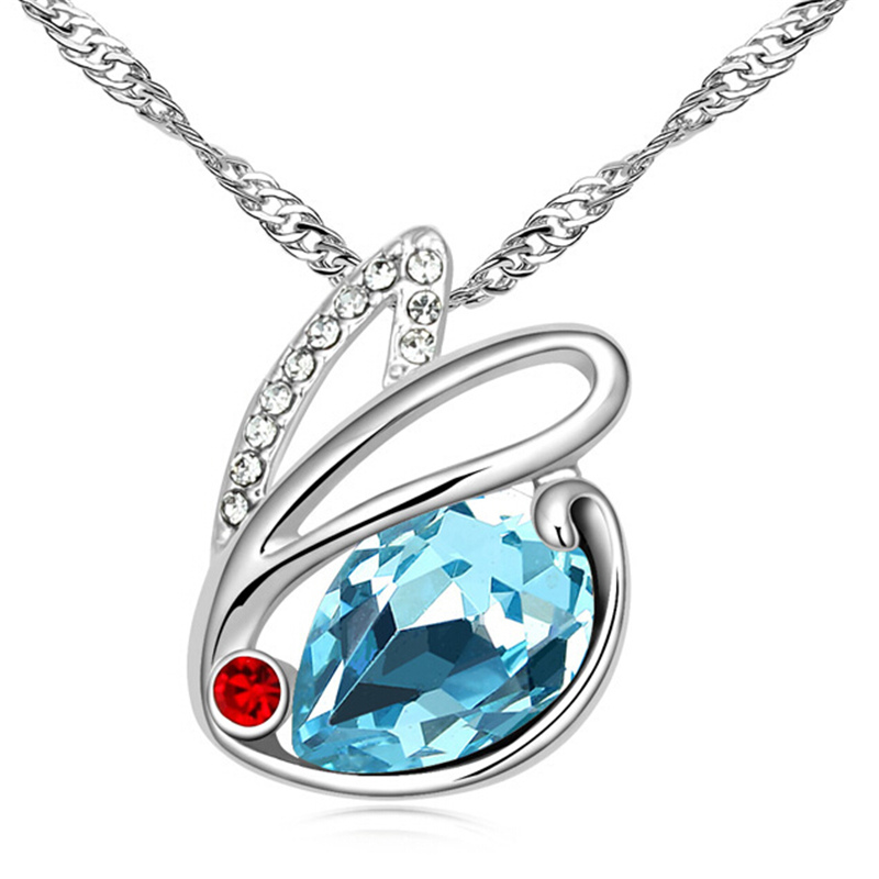 Bijouterie For Women Rabbit Necklace Austria Crystal Cute
