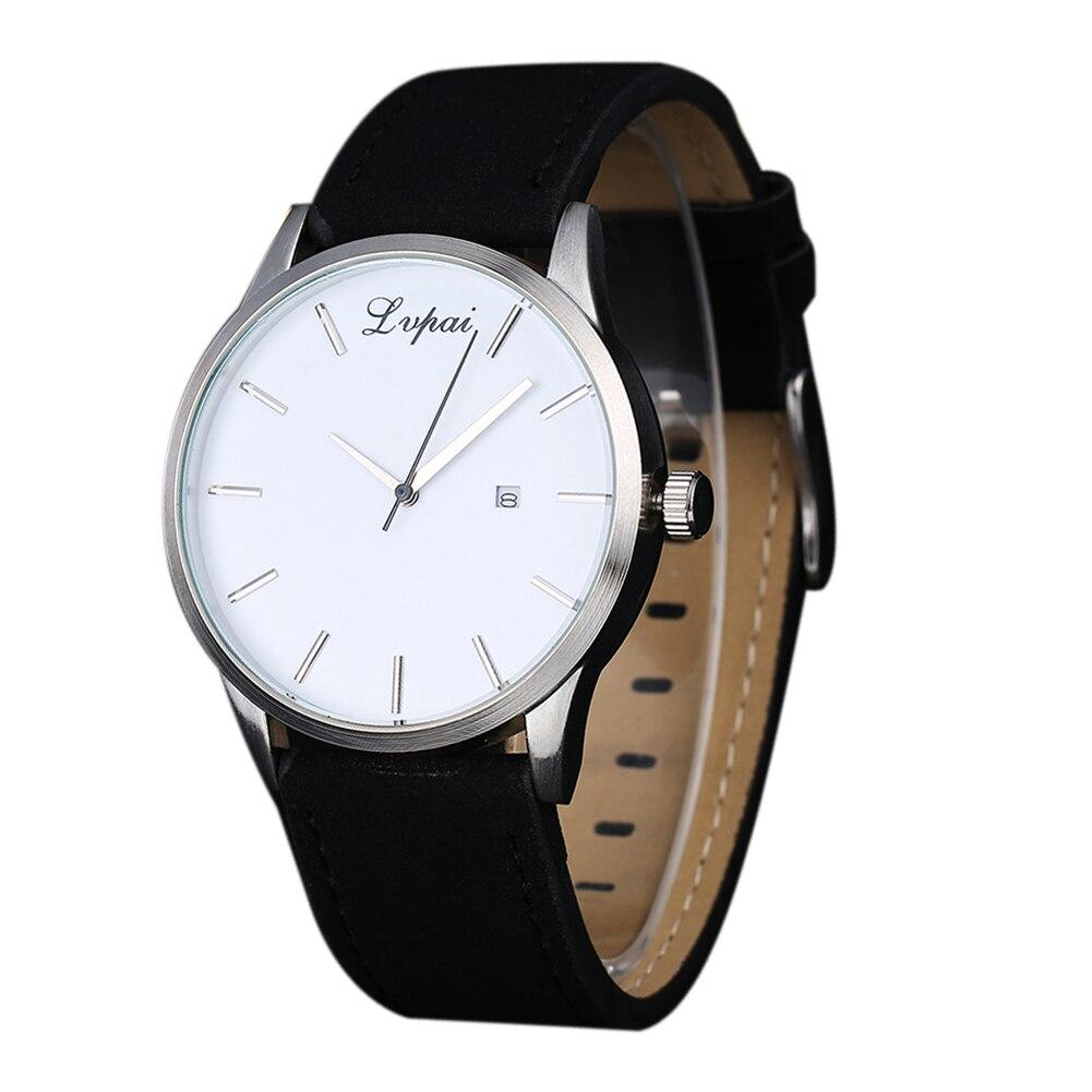 Men Sport Quartz Watches Luxury Brand Leather Men Sport Fashion Quartz Leather Date Calendar Business Casual Watch Men Fashion