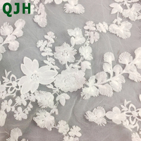 5yards African White Cotton Thread Embroidery Lace Fabric High Quality Fashion Women Skirts Dress Embroidered Fabric
