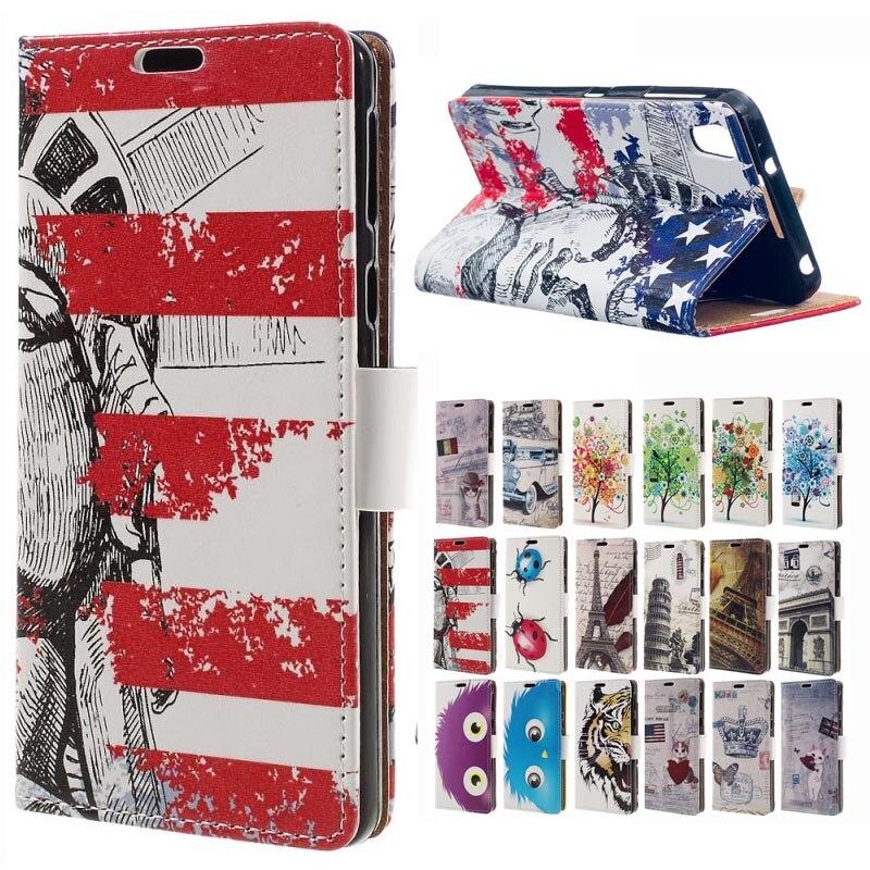 Para BlackBerry DTEK50 neón caso patrón de cuero cartera Flip stand ...