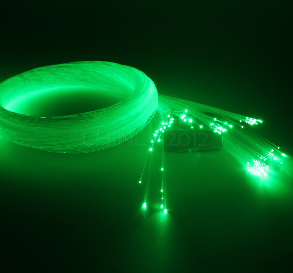 0.75mm 300M/roll PMMA plastic end glow fiber optic cable for all kind led light engine driver