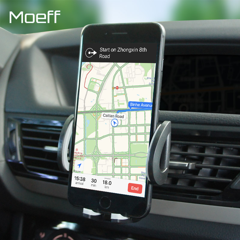 Moeff Universal Mobile Car Holder Stand Adjustable Air Vent Mount Holder For Phone Iphone 6 Plus 7 8 Plus X  Xiaomi Sumsung Note