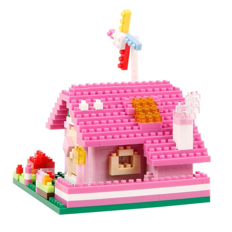 Djevojke Blok Pink Pink Plava Villa Princess Prijevoz Ljubičasta - Izgradnja igračke - Foto 5