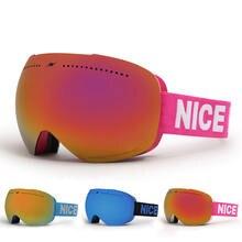Новинка 2020 зимние лыжные очки с двойными линзами uv400 анти