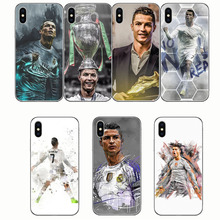Soft silica gel cell phone box Football Soccer Cristiano Ronaldo CR7 Phone Case Cover For iphone 7 8 6 X PLUS 5S SE XR