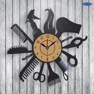 Image 2 - Hairdresser Barber Shop Salon Vinyl Record Wall Clock Art Home Decor Women Gift Decorative Vinyl Record Wall Clock Christmas