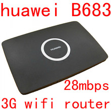 Unlocked Huawei B683 3G 4g wireless router 3g wifi dongle 3g  WCDMA cpe car router with usb port pk b681 b660 e5172 b970 b880