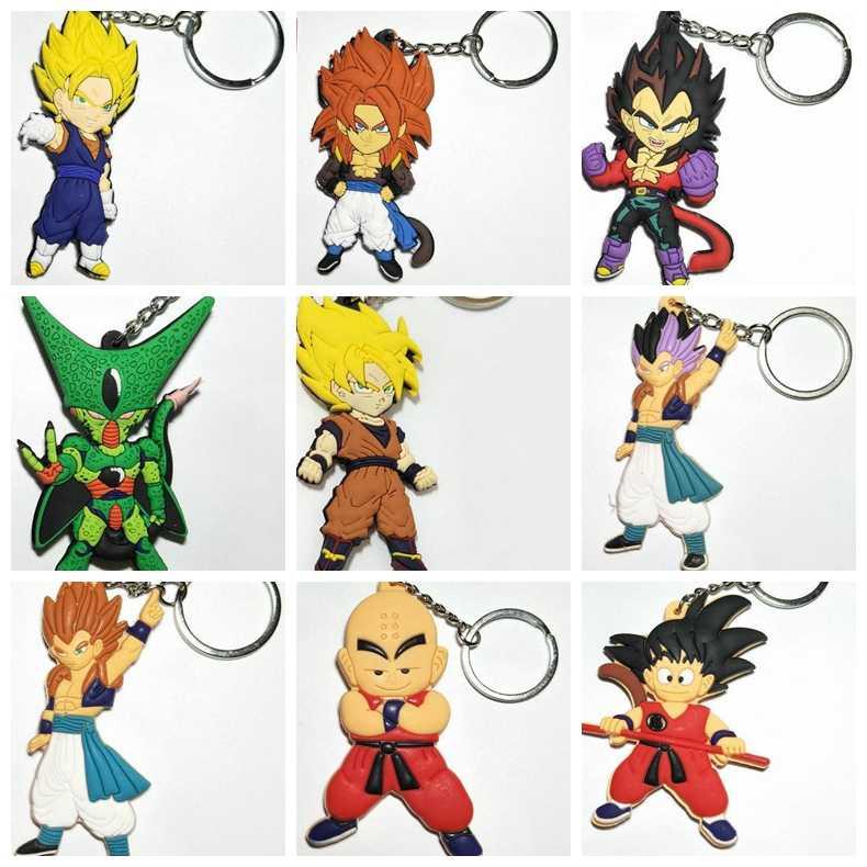 Dibujo Animados Dragon Ball Personaje Clave Cadena Doble Lado