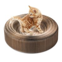 Portable Cat Scratcher Lounge Collapsible Cardboard Scratcher Toy Cat Scratching Pad Cats Turbo Toys