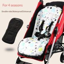 Su geçirmez bebek arabası koltuk minderi Çift yan koltuk astar Evrensel yumuşak ped dört mevsim için Yumuşak yatak pram aksesuarları