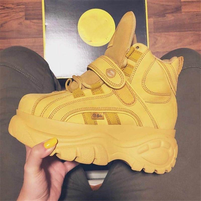 De Zapatillas Lujo Diseñadores Genuino Alta Nuevo Ayuda Señoras Cuero Caliente Deporte Zapatos yellow Casuales Mujer Marca white 2018 Black B5dqnwXBx