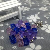 100 pz/lotto all'ingrosso quadrato di cristallo della fiala pendenti di Cristallo di Vetro Fiala di profumo bottiglia che desiderano nome su rice art fascini gioielli fai da te