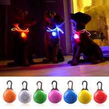 LED Flashlight Dog Cat Collar Glowing Pendant Night Safety Pet Leads Necklace Luminous Bright Decoration Collars For Dogs(China)