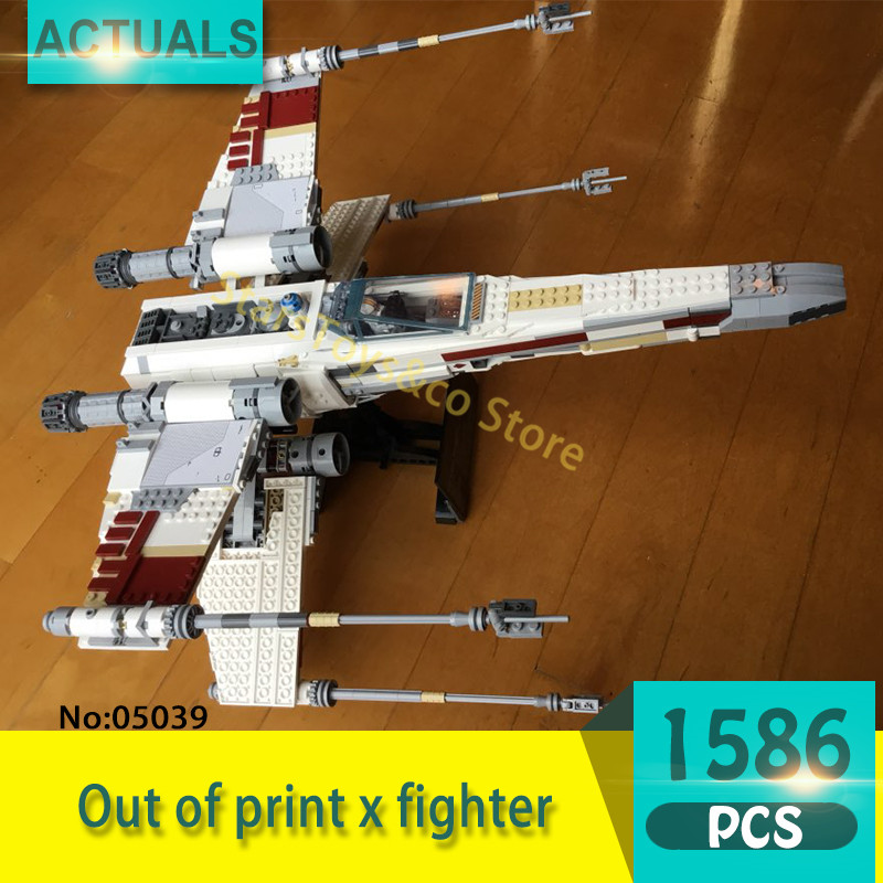 Lepin 05039 1586Pcs Out of print x fighter Model Building Blocks Set  Bricks Toys For Children Gift 10240 Star Series Wars 2015 high quality spaceship building blocks compatible with lego star war ship fighter scale model bricks toys christmas gift