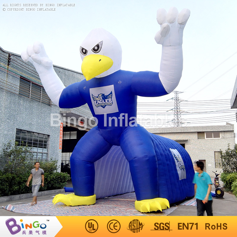 Free shipping American Football Games type Inflatable Animal hawk Tunnel High Quality blow up tent For Sale toy tent funny summer inflatable water games inflatable bounce water slide with stairs and blowers