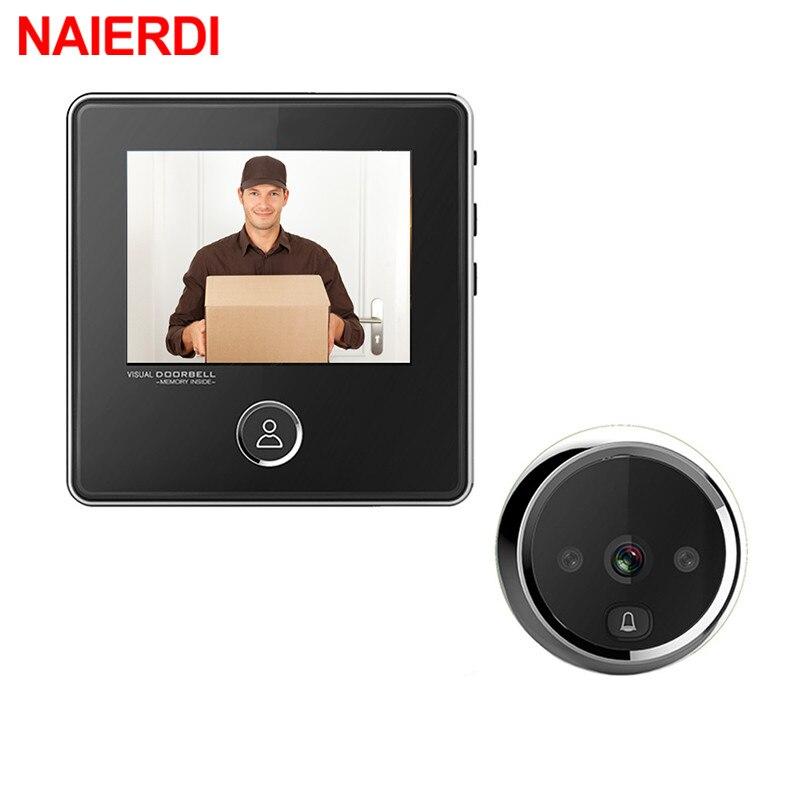 NAIERDI 3 ЖК экран Цифровая дверная камера электронный дверной зритель дверной звонок ИК ночной дверной глазок камера фото запись умный зритель