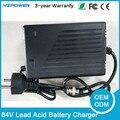 84 V 2.5A 2A 3A Chumbo Ácido Carregador de Bateria Inteligente de 3 Estágios Com Ventilador de Refrigeração