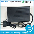 84 V 2A 3A 2.5A Inteligente Cargador de Batería de Plomo de 3 Etapas Con Ventilador De Refrigeración