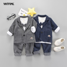 YATFIML Kids Boys dress Formal Suits Blazers Sets 3Pcs Clear