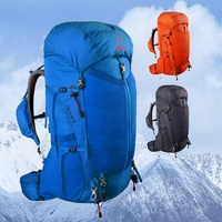 Прочный кислородный Гепард 40 + 10л рюкзак Открытый легкий дышащий подвеска Альпинизм сумка двойная сумка спортивная сумка