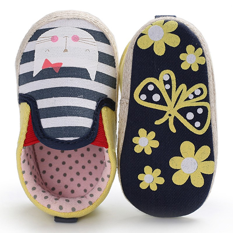 2018 New Baby Girl First Walkers Shoes Cute Bow Non-slip Soft Bottom Toddler Shoes Cartoon Animal Kid Prewalkers Shoes