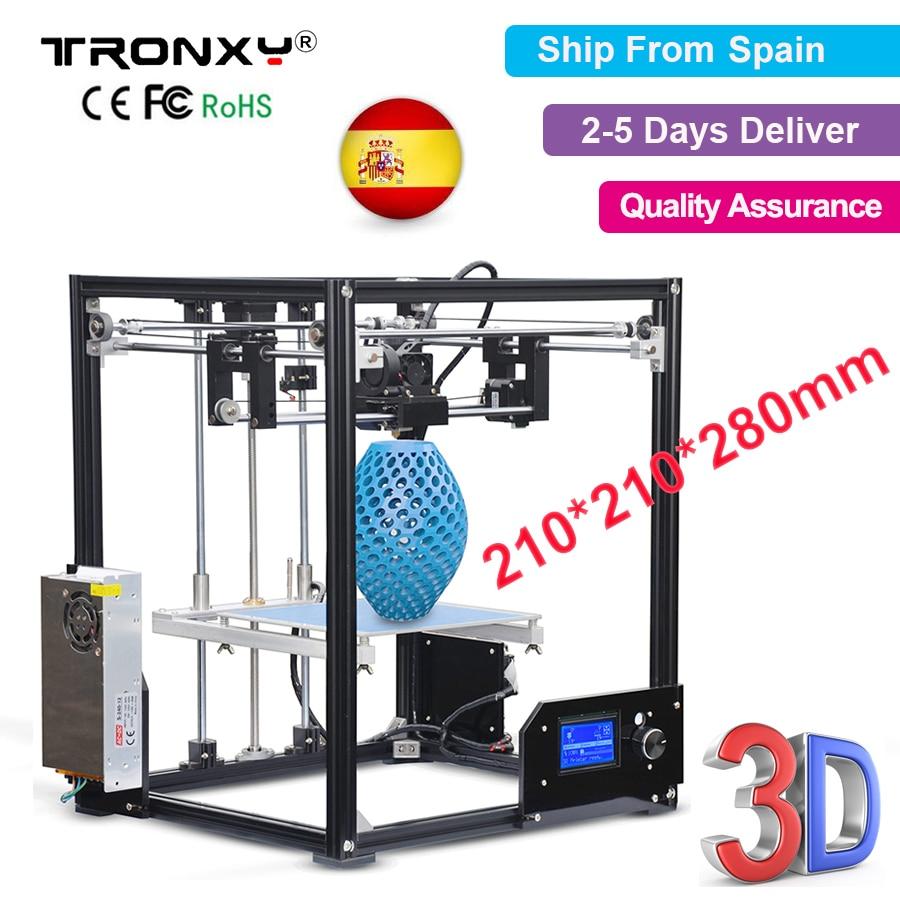 Tronxy i3 3D Printer kit Printing Size 210*210*280mm High Precision Metal Desktop Printer Easy Assembly X5 Tronxy 3D Printer DIY upgarded aluminium cube 3d printer kits bapasco x5 full metal extrusion high precision 12864p lcd big printing size 210 210 280