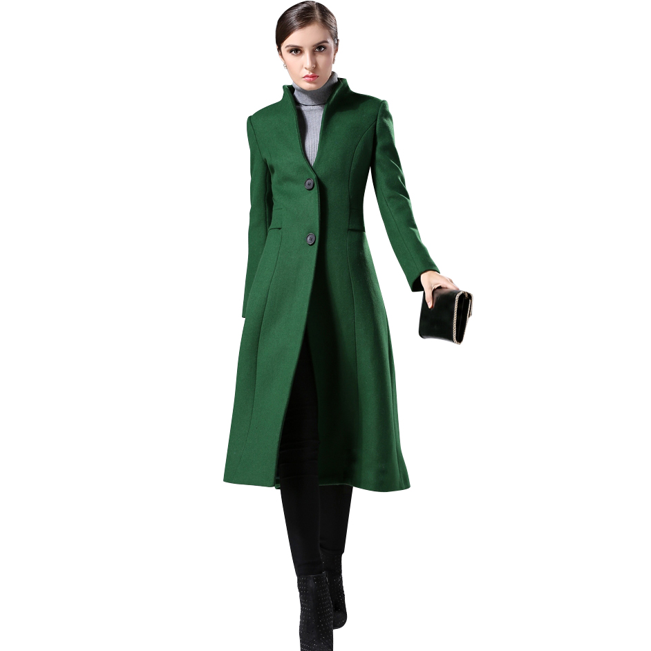 Online Buy Wholesale womens green wool coat from China womens
