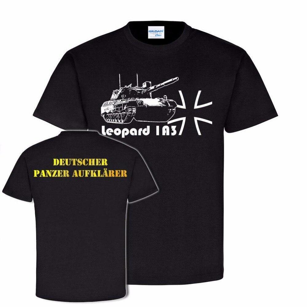 2018 Hot Sale New Men's T Shirt New Fashion Casual Short Sleeve Tops Tee Leopard 1A3 Pzaufkl Panzeraufklarer Panzer T Shirts