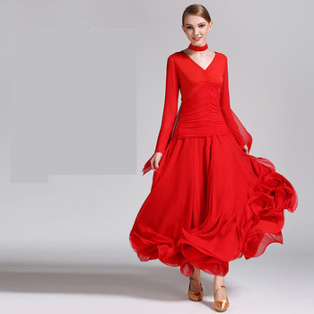 2019 black Ballroom Competition Dress Modern Waltz Tango/Latin Dance Dress/Flamenco Dance Dress