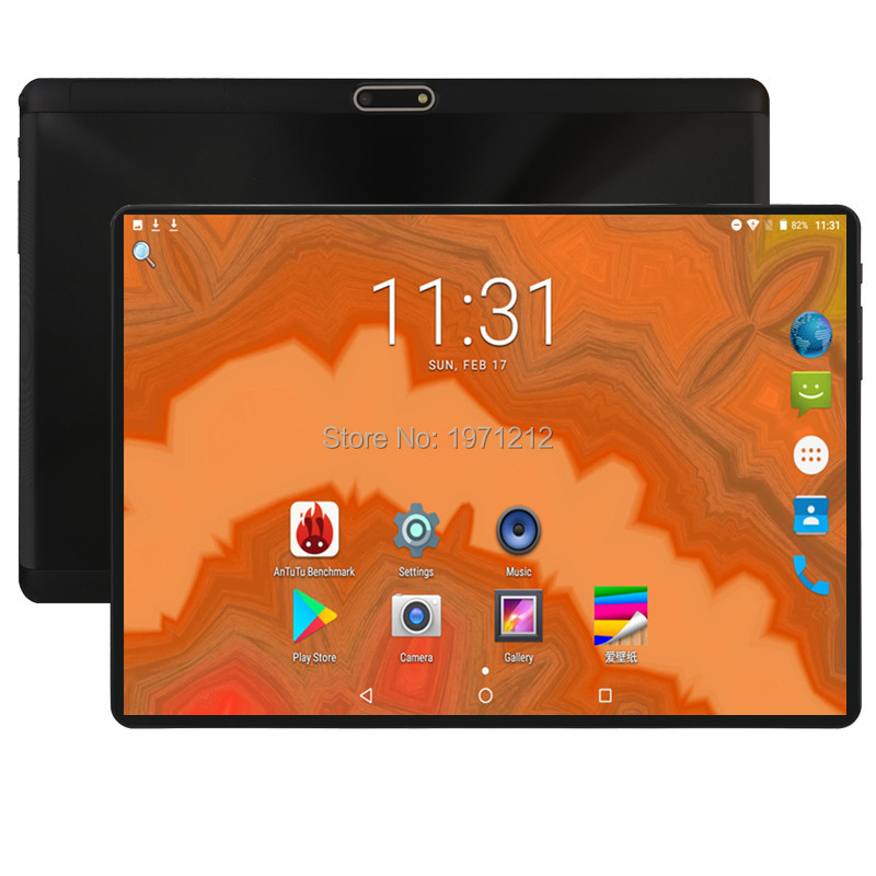 Super 2.5D Glass 10 Inch Tablet Android 8.0 Deca Core 4GB RAM 64GB ROM 10 Cores 1280*800 IPS Screen Tablets 10.1 + Gift