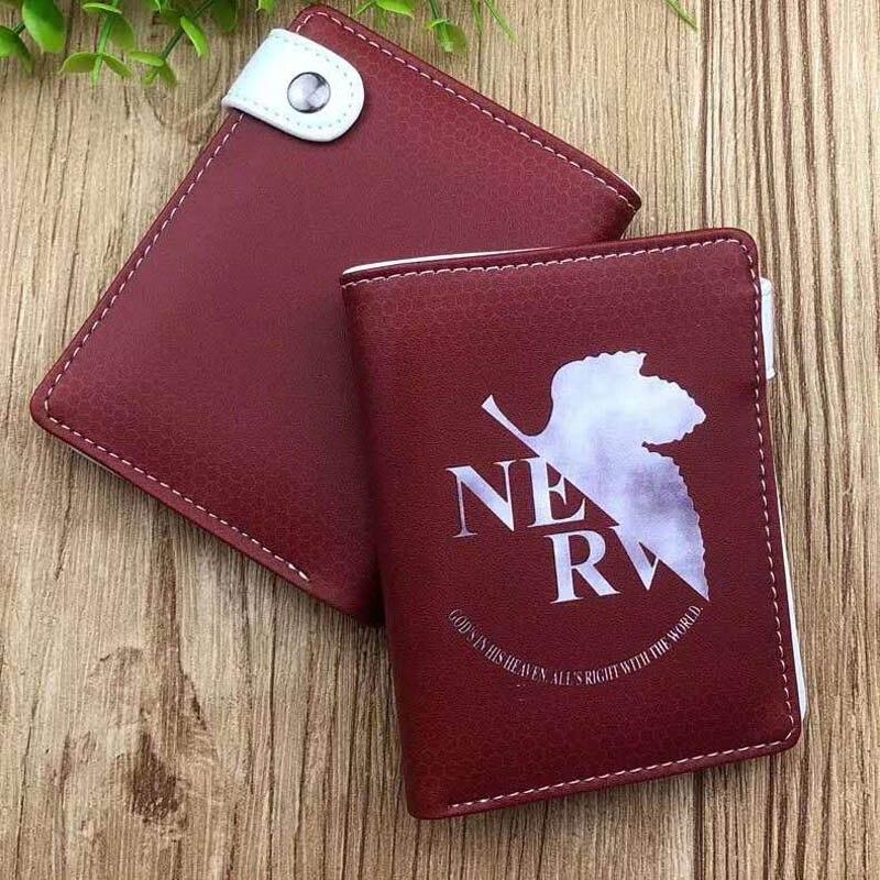 Anime Neon Genesis Evangelion Pu Leather Men/'s Wallet Bifold Casual Card Holder