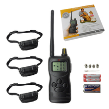 цена на PD266 PD900 Waterproof Electric Dog Training Collar With Lcd Display 1000m  For 3 Dogs Remote Manual Control No Bark Collar