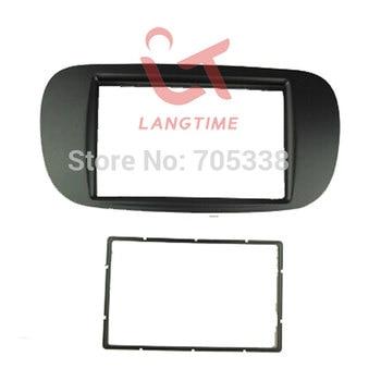 Car refitting DVD frame,DVD panel,Dash Kit,Fascia,Radio Frame,Audio frame for 2011 FIAT 500,2 DIN