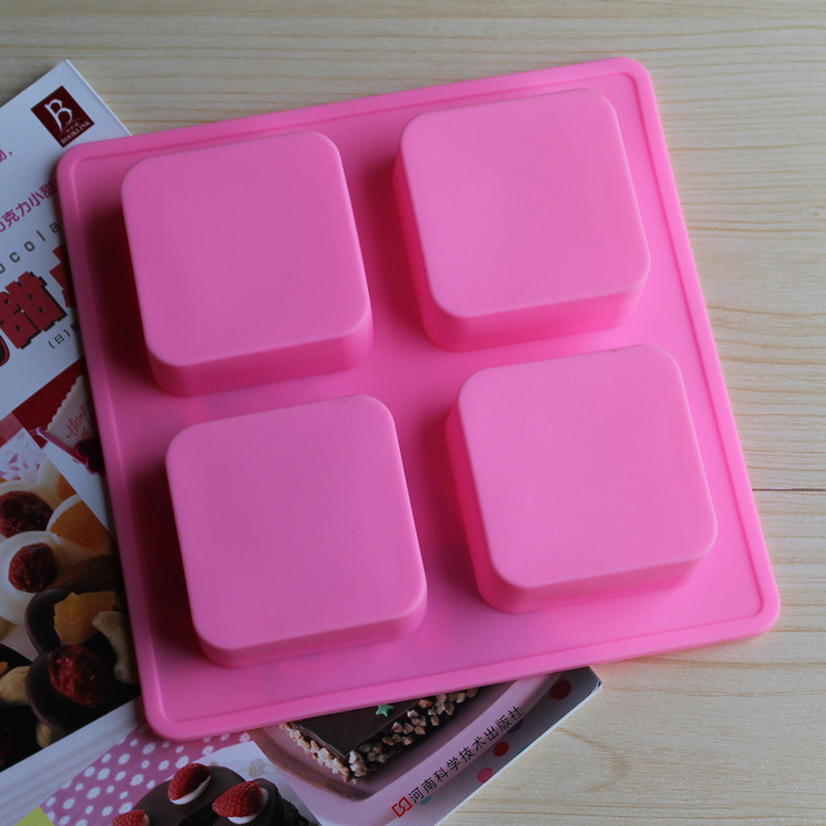 factory outlets 4 with various types of customized silicone bakeware soap mold square cake pan. Black Bedroom Furniture Sets. Home Design Ideas