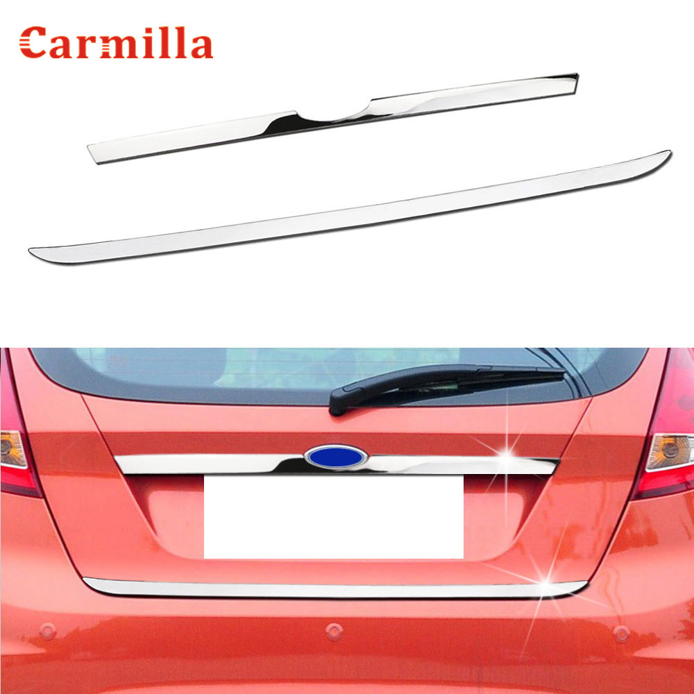 Rear Door Handle Trunk Cover Tailgate Trim Sticker For Ford Fiesta 2009 - 2017 Hatchback Chrome Molding Accent Styling Strip