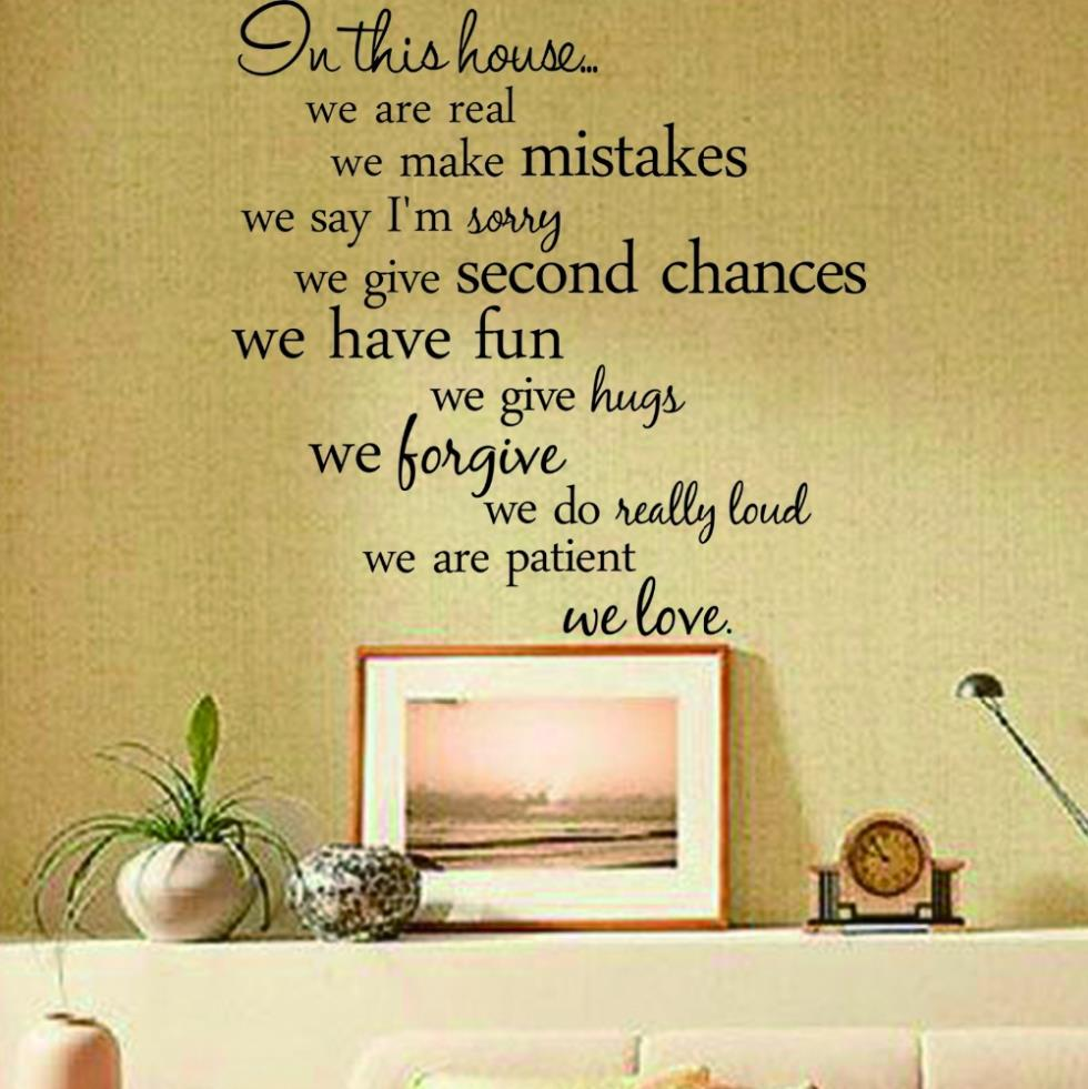 In this house quote wall decalZY8204 decorative adesivo de parede ...
