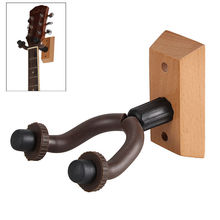 Universal Wall Mount Guitar Hanger Metal Rack Hook W/Rubber Sheath Wooden Base for Guitar Bass Violin Mandolin Ukulele Instrumen