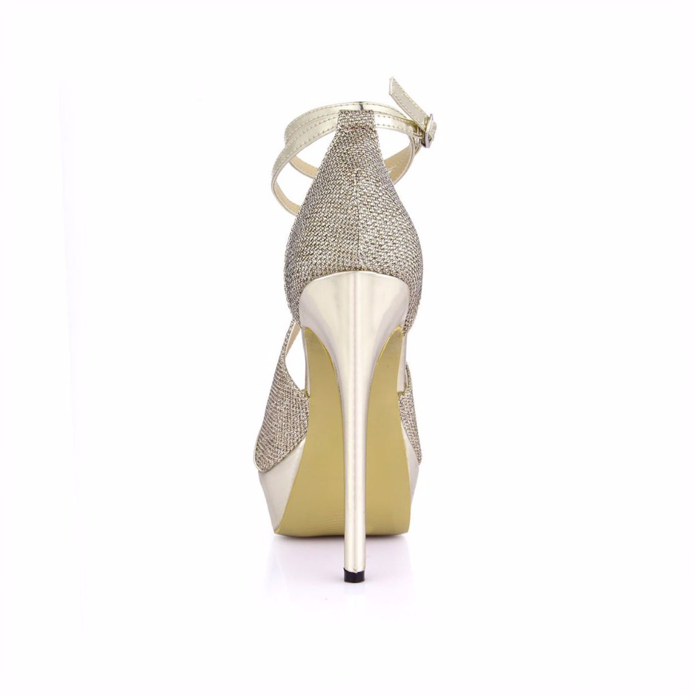 Platform peep toe lady pumps high heel shoes wedding shoes for women dress evening prom wine party sexy sandals 3463SL Q1 in High Heels from Shoes